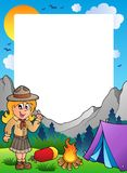 Summer frame with scout theme 2. Illustration Royalty Free Stock Photography