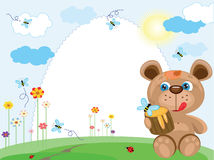 Summer Frame With Bear Royalty Free Stock Image
