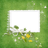 Summer Frame With Yellow Flowers Royalty Free Stock Images