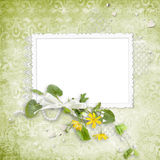 Summer frame with yellow flowers Stock Photography