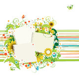 Summer frames with sunflowers stock illustration