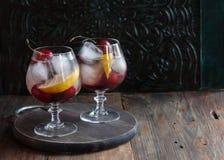 Summer fresh cherry lemonade Royalty Free Stock Image