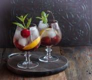 Summer fresh cherry lemonade Royalty Free Stock Photography