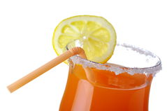 Summer fresh drink with lemon on white Royalty Free Stock Photography