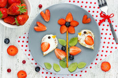 Summer fresh fruit berry snack or dessert for kids Stock Photos