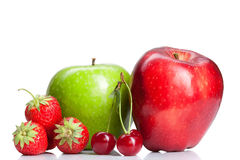 Summer fresh fruits isolated Stock Photo