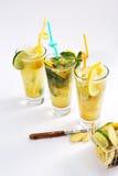Summer fresh juices Stock Image