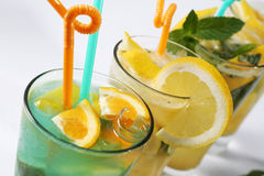 Summer fresh juices Royalty Free Stock Photography