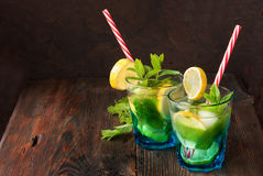 Summer fresh mojito Stock Photos