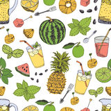 Summer freshness pattern Royalty Free Stock Photos