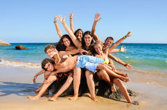 Summer friends Stock Images