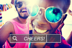 Summer Friendship Beach Vacation Cheers Concept Stock Photography