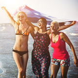 Summer Friendship Togetherness Unity Enjoyment Concept Royalty Free Stock Images