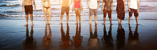 Summer Friendship Togetherness Vacation Enjoyment Concept Stock Photo