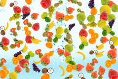 Summer fruit. Abstract fresh summer fruit concept for backgrounds Royalty Free Stock Image