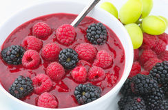 Summer Fruit Compote Stock Photo