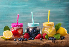 Summer fruit drinks Royalty Free Stock Photo