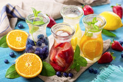 Summer fruit drinks Stock Images