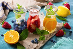 Summer fruit drinks Stock Photos