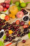 Summer fruit Stock Images