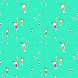Summer fruit juice drink seamless pattern Stock Photos