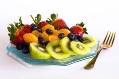 Summer fruit plate Stock Images