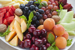 Summer fruit platter Stock Photography