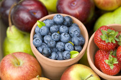Summer fruit produce Stock Images