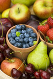 Summer fruit produce Stock Photos