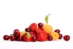 Summer fruit salad ingredients Royalty Free Stock Photos