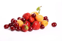 Summer fruit salad ingredients Royalty Free Stock Images