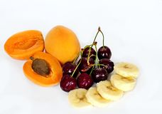 Summer fruit salad ingredients Royalty Free Stock Photography
