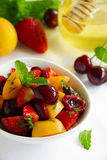 Summer Fruit Salad with strawberries Royalty Free Stock Images