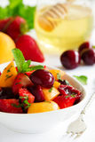 Summer Fruit Salad with strawberries, Stock Photo