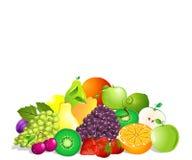 Summer fruit set Royalty Free Stock Image