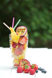 Summer fruit smoothie stock photos