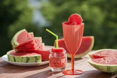 Summer fruit still life, natural watermelon freshness. Royalty Free Stock Photos
