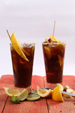 Summer fruit tea Royalty Free Stock Photos