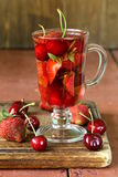 Summer fruit tea with a variety of berries Stock Image