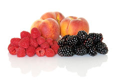 Summer Fruit Trio Royalty Free Stock Photos