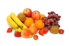 Summer Fruits. Fresh colorful fruits on white Royalty Free Stock Image