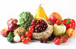 Summer Fruits And Vegetables Royalty Free Stock Photo