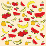 Summer Fruits Background Stock Photos