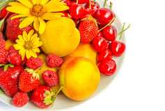 Summer fruits and berries Royalty Free Stock Photography