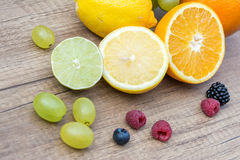 Summer Fruits And Berries Stock Photos