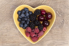 Summer fruits in a bowl Royalty Free Stock Image