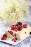 Summer fruits ice cream Stock Photo