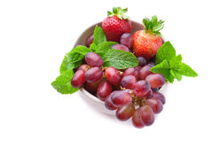 Summer fruits, isolated on white Stock Photography