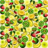 Summer Fruits Juicy Pattern Stock Photos