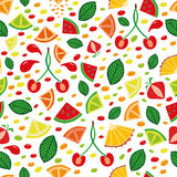 Summer fruits slices. Seamless pattern Royalty Free Stock Image